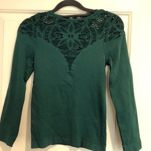 Free People Lace Seamless Top NWOT